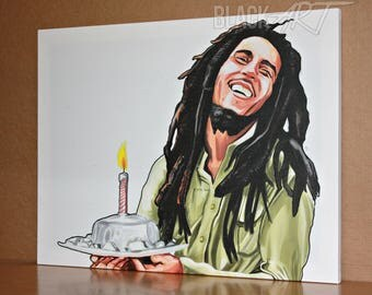 Bob marley original canvas /art work /hip-hop *watermark will be removed