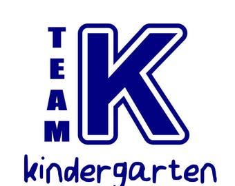 Team kindergarten svg; Kindergarten teacher svg; svg file, dxf file