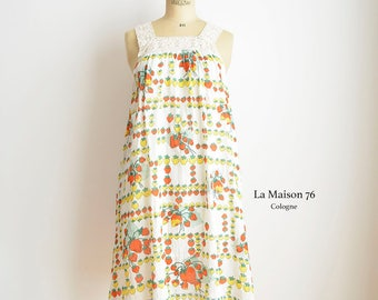 90s Sweet summer dress with strawberry prints