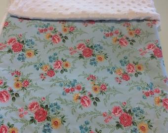 Shabby Chic Minky Dot Blanket