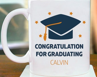 Congratulation for Graduating Personalized Mug With Name Printed