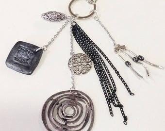 Black and silver style handbag Gothic