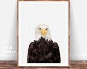 Eagle Print, Woodland Nursery Prints, Nursery Wall Art, Nursery Decor, Nursery Art, Nursery Animal Prints, Prints Wall Art, Printable Art
