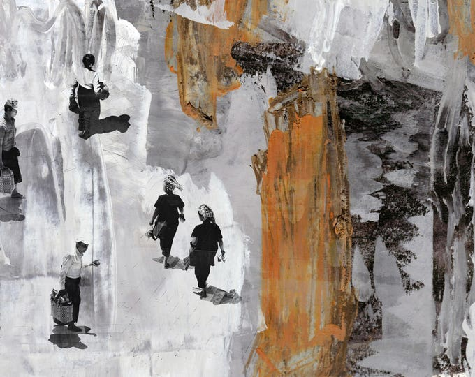 WATCHTOWER XVII - Mixed Media Art by Sven Pfrommer - Artwork is ready to hang