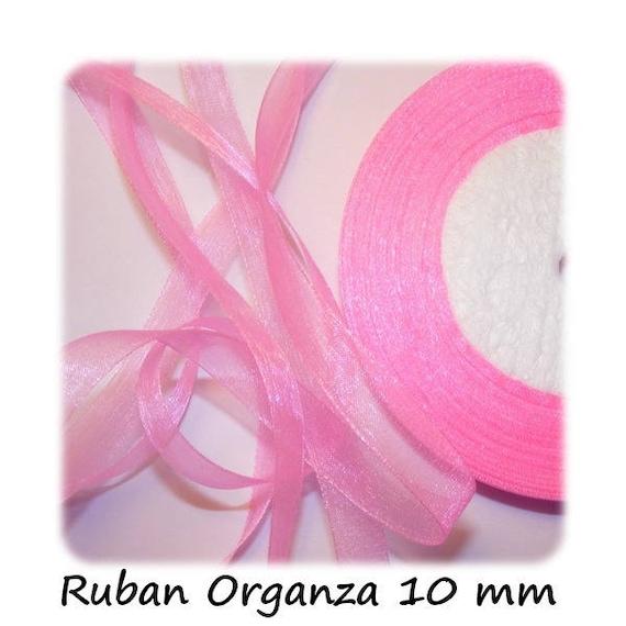 Ribbon Organza veil 10 mm Pink x 1 meter