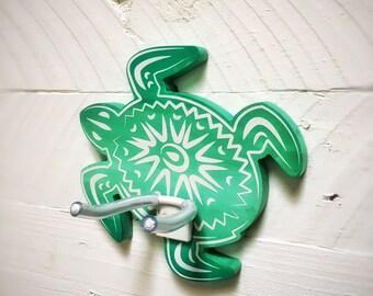 Ukulele wall mount, ukulele holder. Handpainted honu turtle ukulele wall hanger. ukulele hook