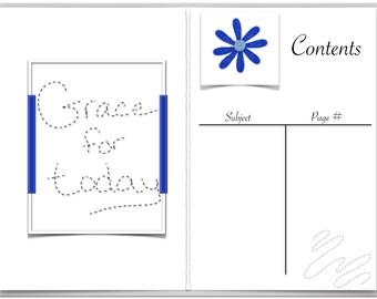 Blue Floral Digital Bullet Journal