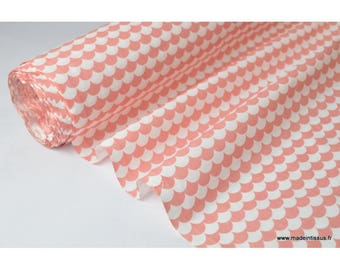 Printed cotton fabric design coral x50cm scales
