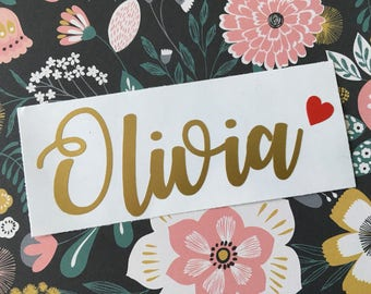 Name Decal - Name Sticker - Custom Name Decal - Any Name Decal - Word Decal - Yeti Decal - Yeti Decal for Women - Monogram Decal -Rtic Decal