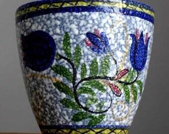 Vintage 60-70's ES KERAMIK Emons&Sohne Planter Pot West German Pottery Fat Lava