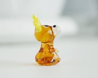 deer glass miniature, tiny glass animals, miniature animal figurines, little glass animals, desk accessories for women, glass figurines