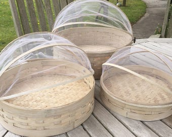 Set of three net food covers