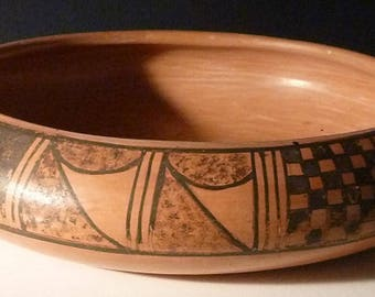 "Pauline Setalla - Native American Hopi Bowl - Approximately 7 3/4"" in diameter x 2"" tall"