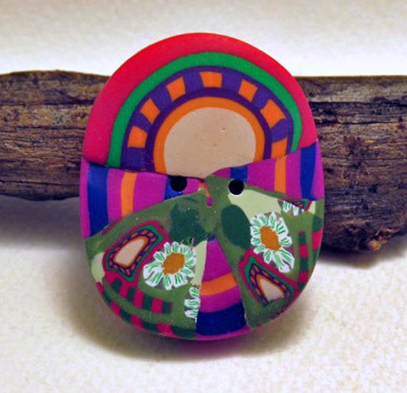 Button large fantasy buttons large rounded decorative for Decorative buttons for crafts