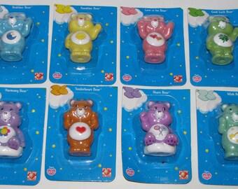 8 Care Bears Play along toys 3 inch