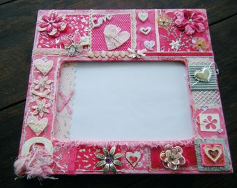 Pink decorated frame scrapbooking 'Girly'