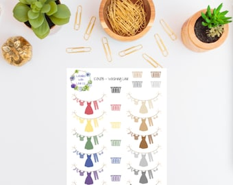 ICON08 - Washing Line Planner Stickers