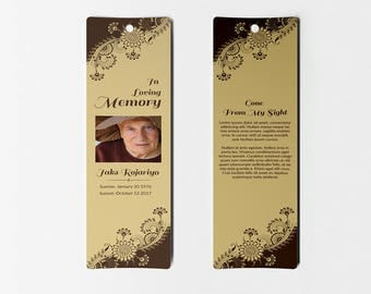 funeral bookmarks