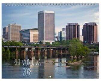 2018 Wall Calendar - Richmond, VA