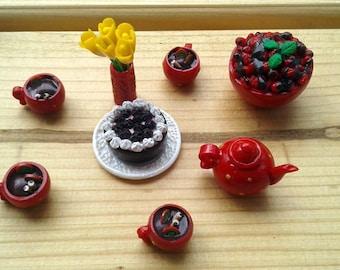 Dollhouse Miniature Barbie food Coffee * Polymer clay food * Mini food * Dollhouse food miniature * Barbie doll * Miniature cooking * Food