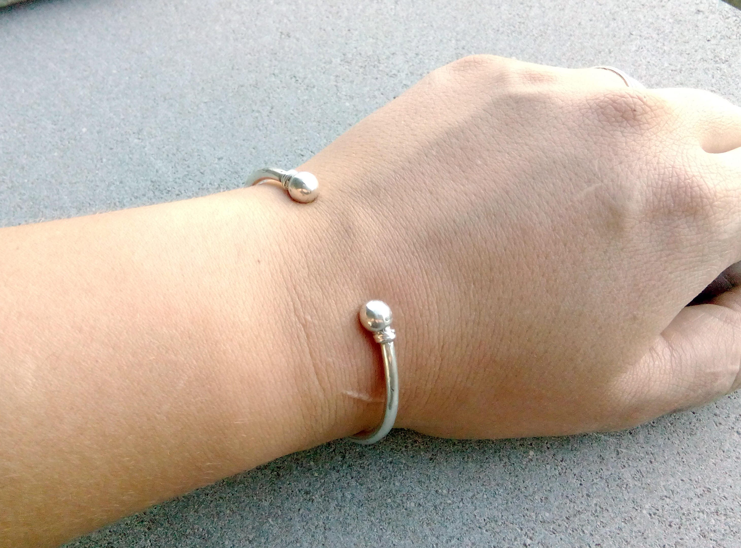 crescent bangle on delicate in liked open silver bracelet sterling pin bangles blossom jewels by