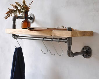 New York Industrial Pipe Shelf