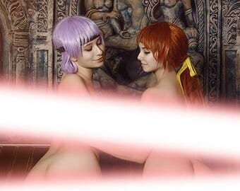 Dead or Alive 5 Kasumi and Ayane erocosplay print !!!18+!!!