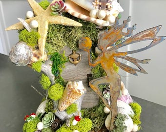 Fairy Door/ Natural/ Wedding/Woodland Party/ Tinkerbell House, Party, Beach