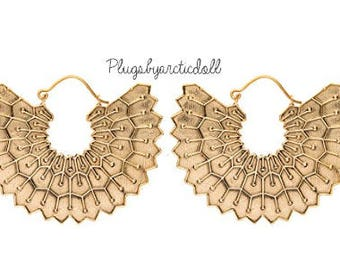 Indian style earrings gold