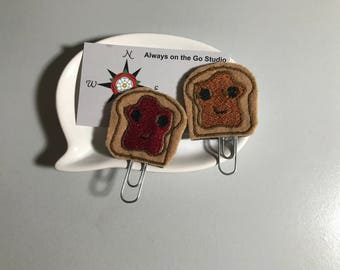Peanut butter and jelly planner clips
