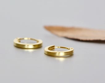 Gold Hoops, 10mm Hoops, Ear Hoops, Delicate Rings For Ears, Piercing Hoops, Tiny Body Hoops, Gift Ideas, Cartilage Hoops,(E23G)