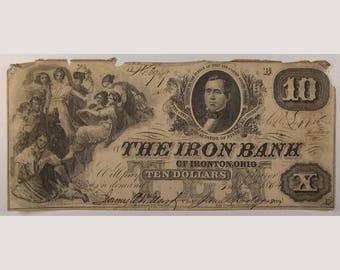 """1854 """"The Iron Bank"""" – Ironton - Ohio"""