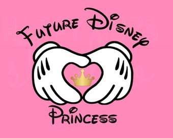 Future Disney Princess or Prince Mickey Hands Pregnancy Announcement Mom to be Maternity Baby Disney Iron On Decal Vinyl for Shirt 283