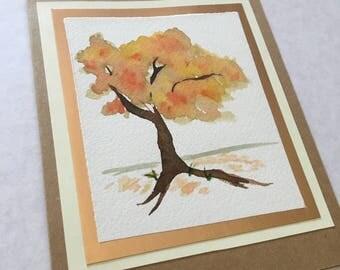 Handmade Greeting Card- Autumn Tree