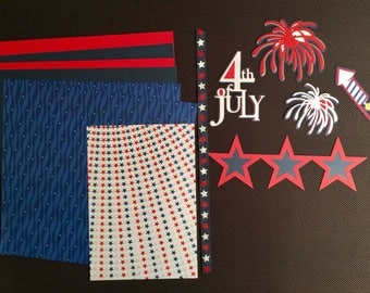 4th of July Scrapbooking Kit