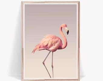 Flamingo Print,Flamingo,Tropical,Wall Art,Pink,Instant Download,Wall Decor,Flamingo Art,Printable Flamingo,Large Wall Art,Flamingo Poster