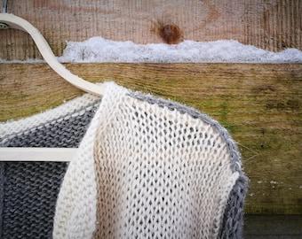 a warm Alpaca woolly/cardigan/handmade