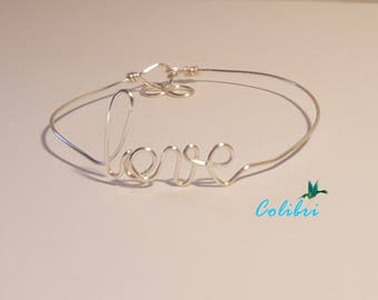 "Message ""strand of the words"" bracelet"
