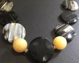 Hand crafted Banded Agate nekclace