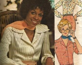 Vintage  Uncut Butterick Misses sz 8 Shirt Pattern