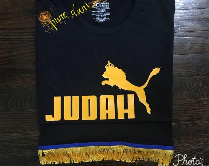 Judah Jump Black T-Shirt Yellow Gold Design