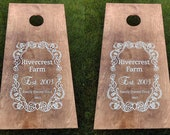 Cornhole Boards, Custom Wedding Corn Hole Boards, CornHole Boards, Corn Toss Boards, Wedding Corntoss, Optional LED Lights, Design your Own
