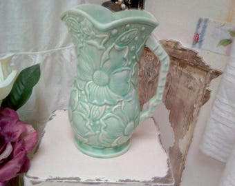 Kensington ware Sunflowers pitcher in Pale Green