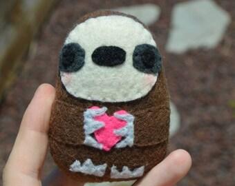 Custom Sloth Mini Plush - Custom Fabric Sloth Stressball - Sloth Doll - Sloth Stuffed Animal - Personalized Sloth Plush - Sloth Gift