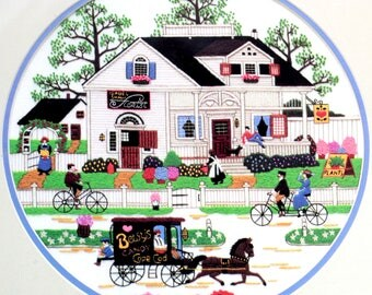 Charles Wysocki Cape Cod Afternoon Crewel Embroidery Kit Americana Sampler