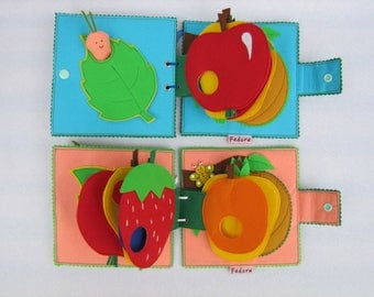 Book «The very hungry caterpillar» quiet book