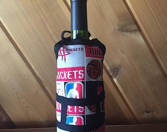 Houston Rockets Wine Bottle Cover