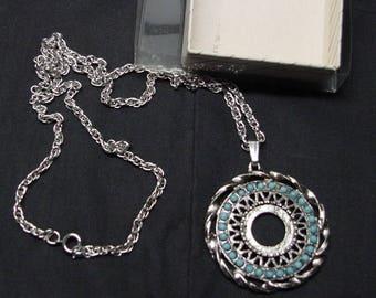 Vintage Native American Nickle Silver Necklace