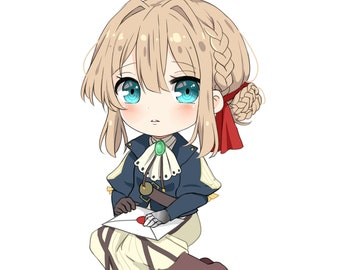 Violet Evergarden Chibi Sticker 3-4 inches
