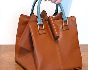 French handcrafted fine leather bag